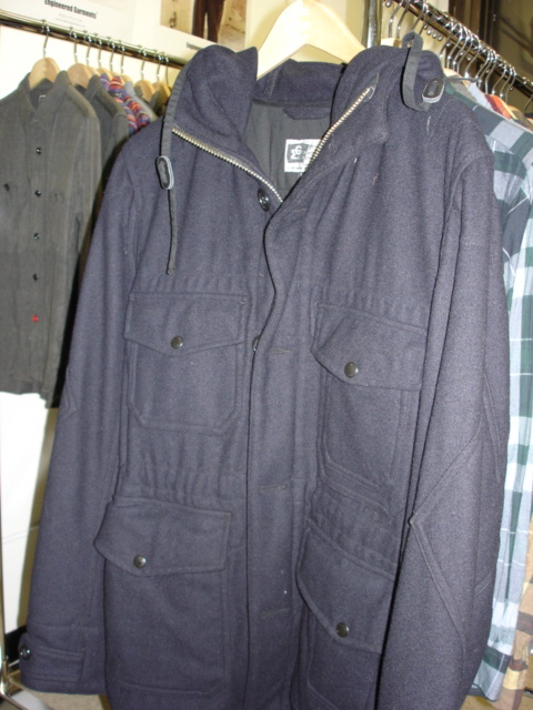 Engineered Garments Field Parka in Navy Melton Wool