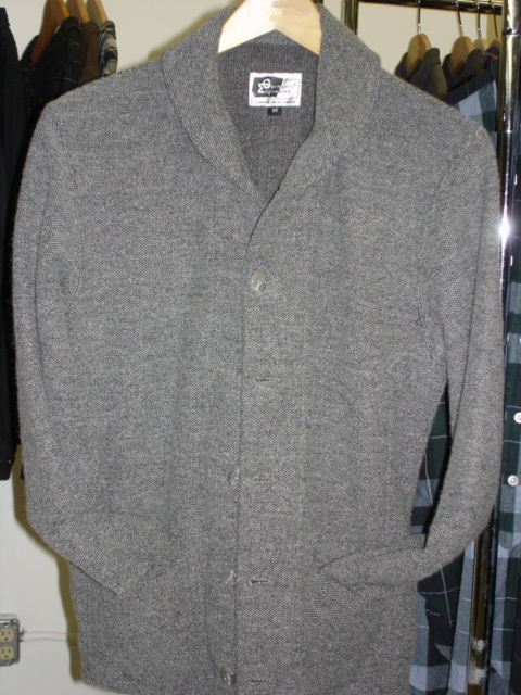 Engineered Garments Shawl Collar Cardigan in Jersey