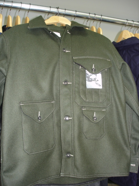 Post O'Alls Cruzer Shirt Jacket in Forest Green Melton Wool
