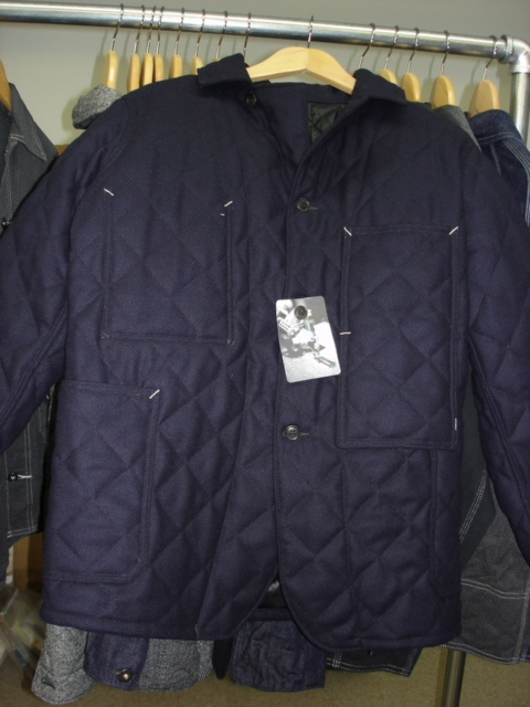 Post O'Alls Mattalini 2 Jacket in Navy Donegal Tweed