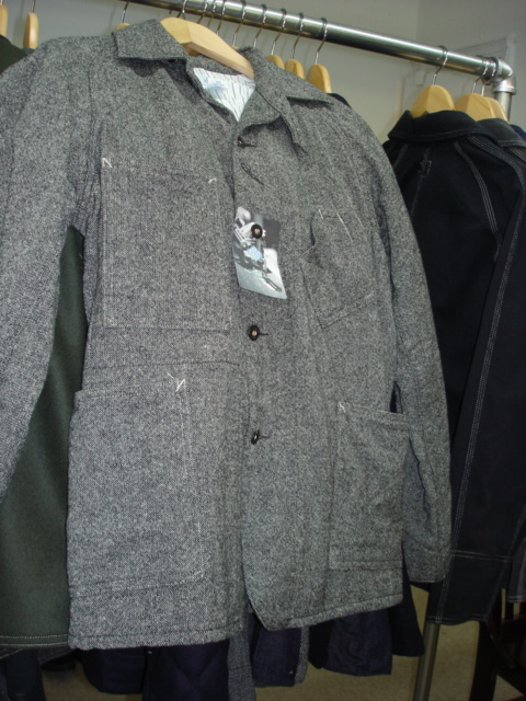 Post O'Alls Sweetbear Jacket in Grey Donegal Tweed