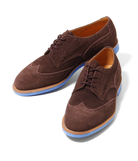 ts(s) Brown Suede Wingtips with a Blue Brick Sole