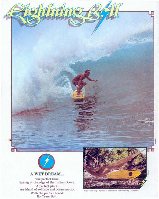 Lightning Bolt Surfwear Ad