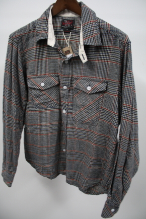 Woolrich Woolen Mills Grey Plaid Shirt
