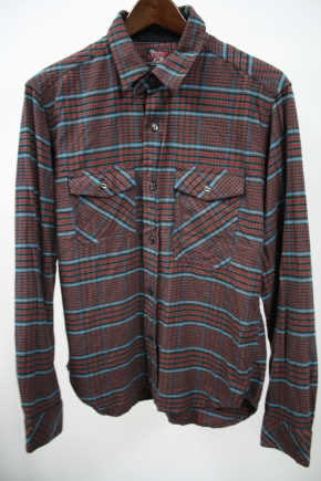Woolrich Woolen Mills Rust Plaid Shirt