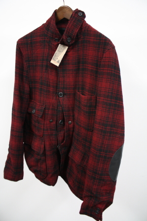 Woolrich Woolen Mills Red Plaid Upland Jacket