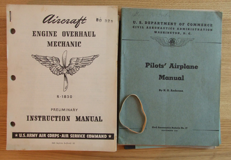 Old Airplane Manuals - Covers