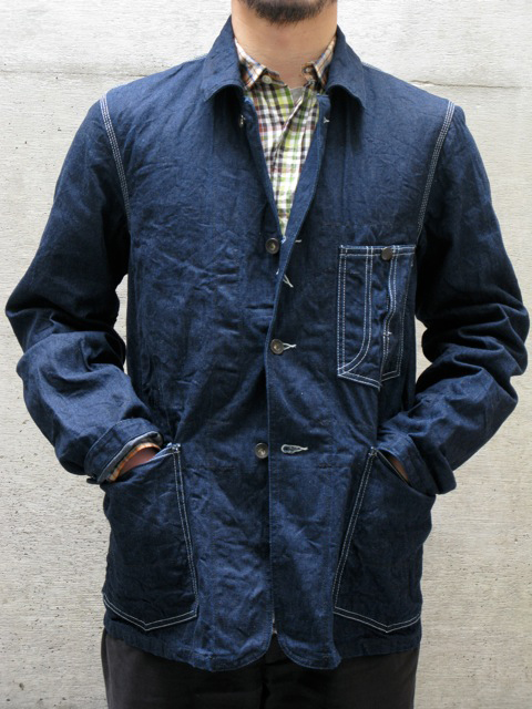 Engineered Garments Indigo Denim Engineer Jacket Front