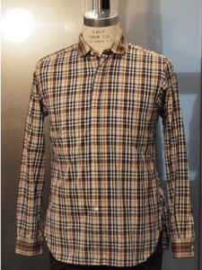 Engineered Garments Plaid Round Collar Shirt