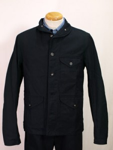 Engineered Garments FW2009 Shawl Collar Shirt Jacket - Black Canvas