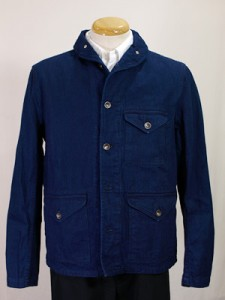 Engineered Garments Shawl Collar Shirt Jacket - Indigo on Indigo