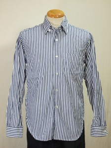 Engineered Garments Stripe Tab Collar Shirt