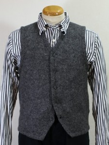 Engineered Garments Tweedy Knit Vest Grey