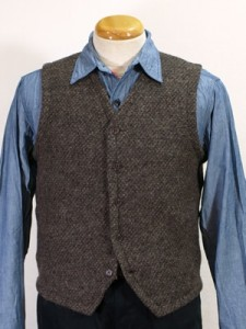 Engineered Garments Tweedy Knit Vest Brown