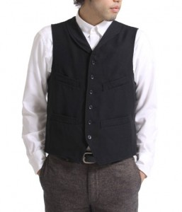 Engineered Garments Shawl Collar Vest Wool Serge