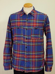 Engineered Garments Blue Plaid Workshirt