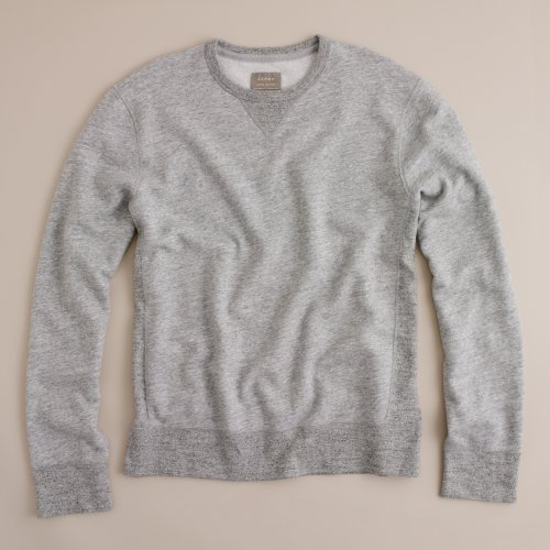Jcrew sueded fleece crewneck pullover
