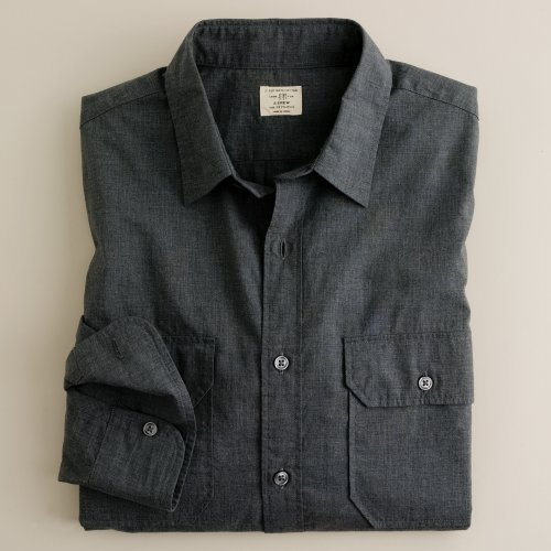 Jcrew heather poplin utility shirt