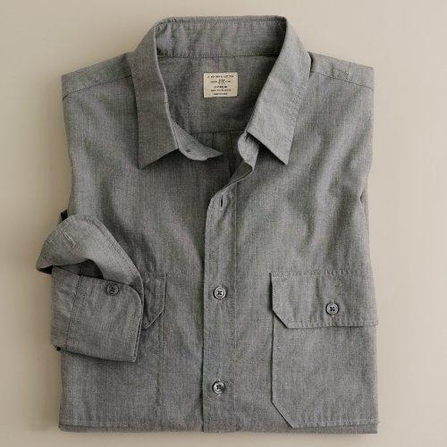 Jcrew slate poplin utility shirt