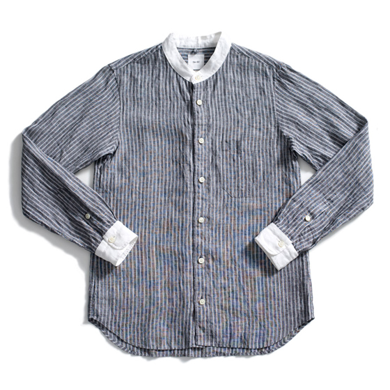 ts(s) band collar linen shirt