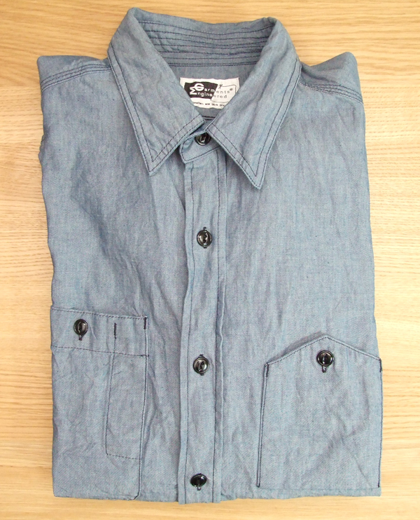 Engineered Garments Blue Chambray Workshirt