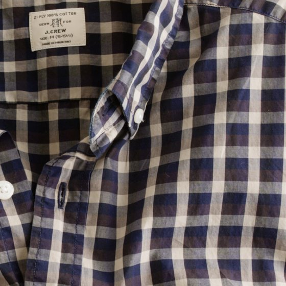 J.Crew vineyard plaid shirt