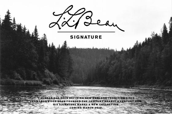LL Bean Signature