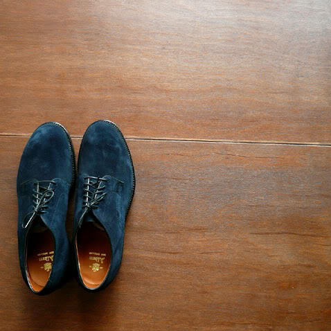 Alden navy suede shoes 1