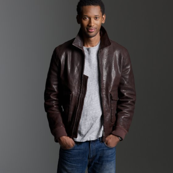 Jcrew Leather Flight Jacket
