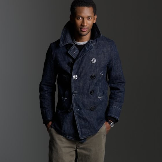 Jcrew Mister Freedom Denim Peacoat