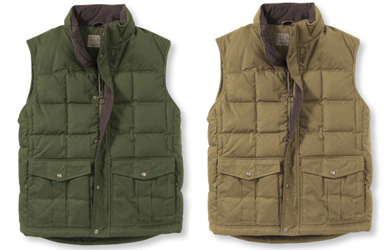 LL Bean Waxed Cotton Vests