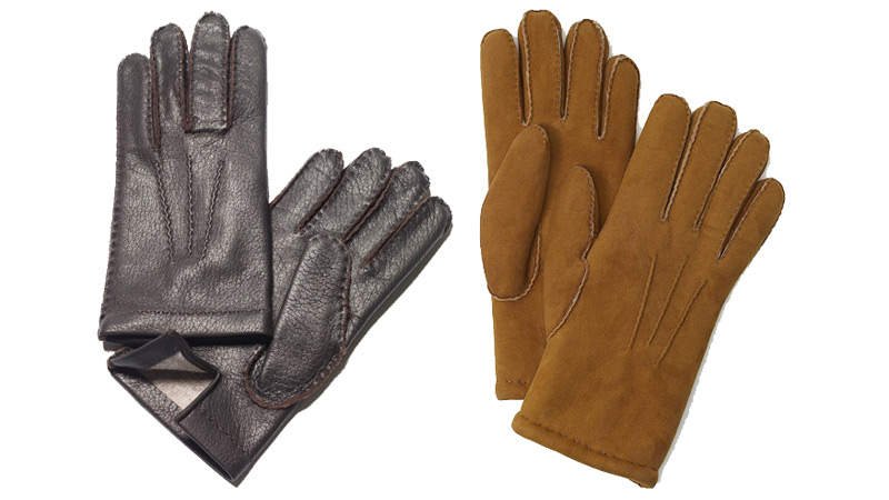Gloves from Paul Stuart and Brooks Brothers