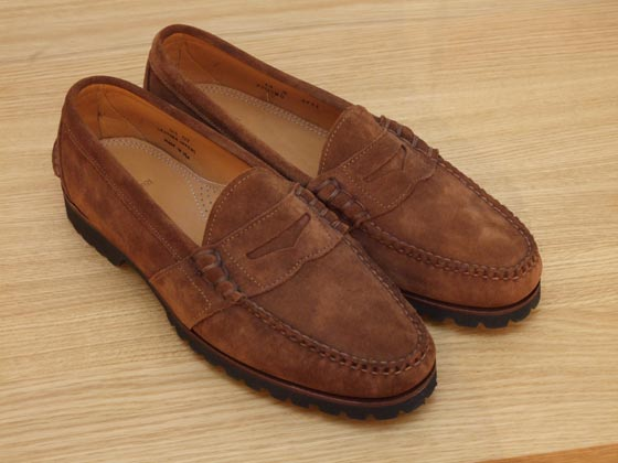 Ralph Lauren suede penny loafers