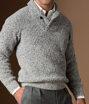 Paul Stuart Shawl Collar Sweater