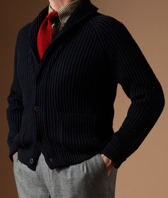 Paul Stuart Shawl Collar Cardigan