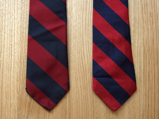 Regimental Stripe Tie - Paul Stuart and Polo Ralph Lauren