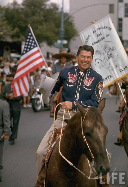 Reagan in festive cowboy attire