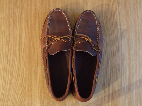 Ralph Lauren Canoe Moccasins Top View
