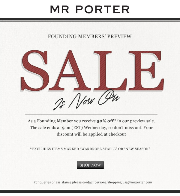 Mr Porter Coupon Codes, Promos & Sales