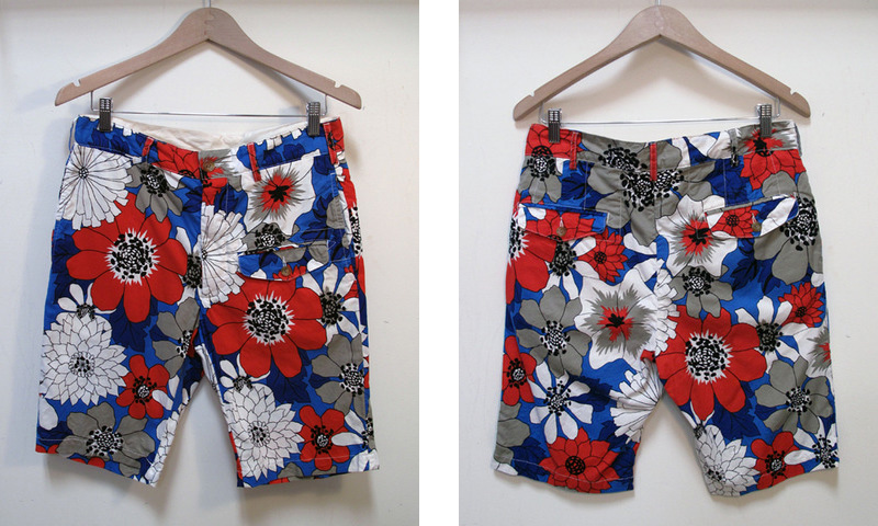 Engineered Garments Floral Print Ghurka Shorts