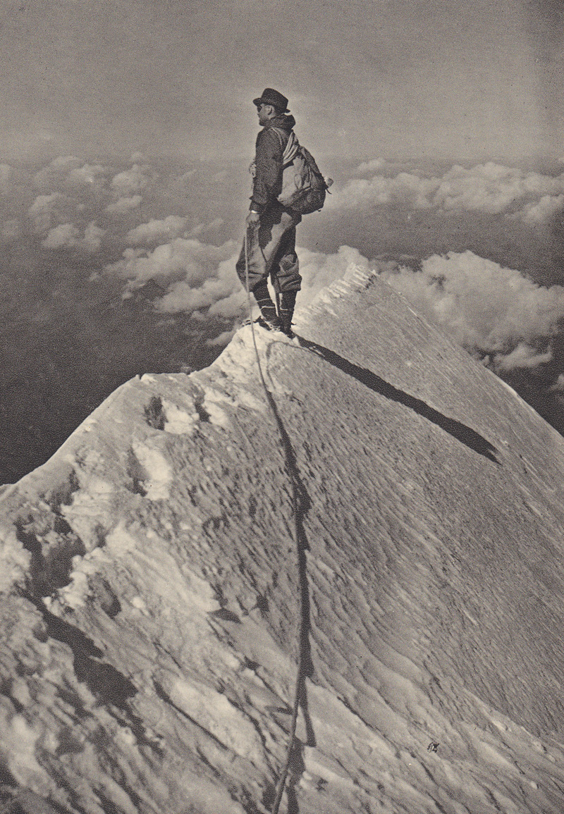 On the Summit of the Aiguille de Bionnassay